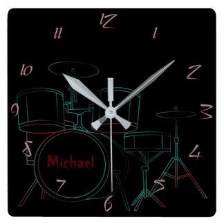 Los tambores personalizaron el reloj de pared