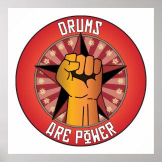 Los tambores son poder impresiones