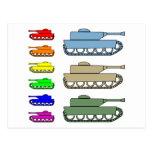Los tanques de ejército de neón - arte pop postal