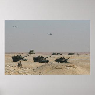 Los tanques de M1-A1 Abrams Poster
