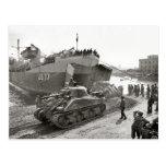 Los tanques de Sherman de la Segunda Guerra Mundia Tarjetas Postales