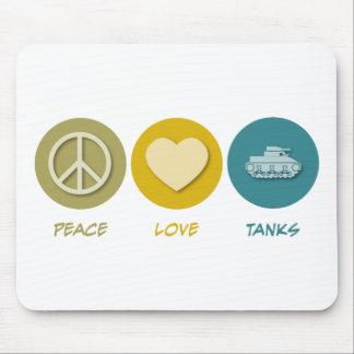 Los tanques del amor de la paz tapete de raton