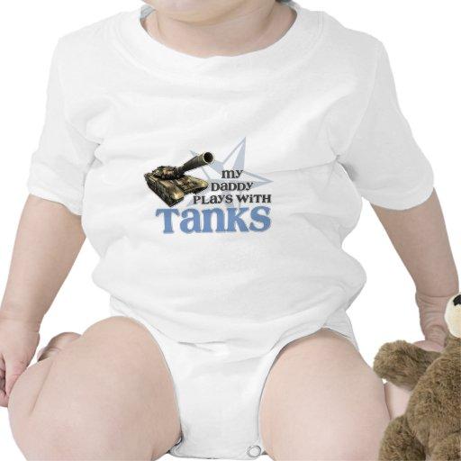 los tanques del papá azules traje de bebé