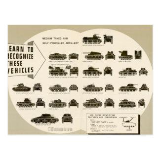 Los tanques medios de la carta WWII de la identifi