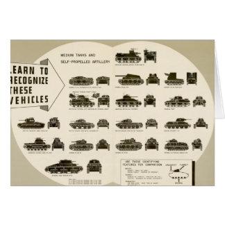 Los tanques medios de la carta WWII de la identifi Felicitacion