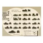 Los tanques medios de la carta WWII de la identifi Tarjeta Postal