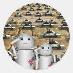 ¡Los tanques mucho! Pegatina