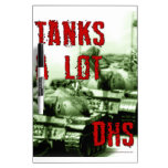 Los tanques mucho - pizarra blanca