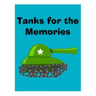 Los tanques para las memorias tarjetas postales