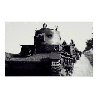 Los tanques polacos de WWII Poster