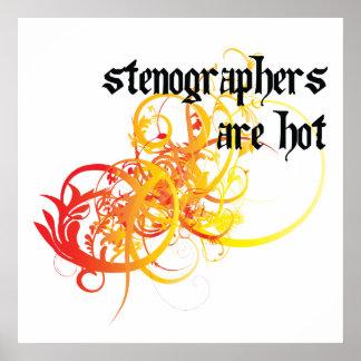 Los taquígrafos son calientes impresiones
