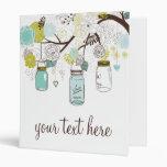 Los tarros de albañil florales azules y verdes per