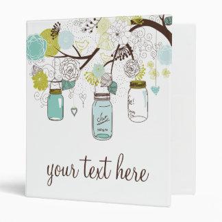 """Los tarros de albañil florales azules y verdes per carpeta 1"""""""