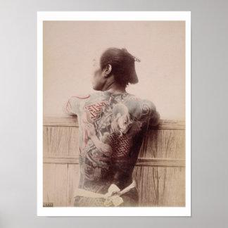 Los tatuajes del novio japonés, c.1880 (foto) póster