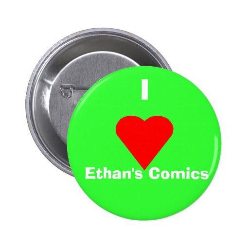 Los tebeos de Ethan del corazón Pin