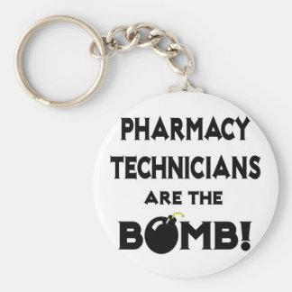 ¡Los técnicos de la farmacia son la bomba! Llavero Redondo Tipo Pin