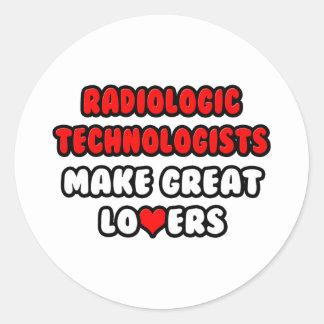 Los tecnólogos radiológicos hacen a grandes pegatina redonda
