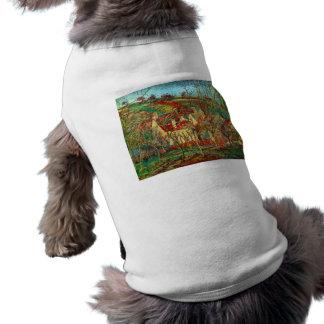 Los tejados del rojo de Camille Pissarro Camisa De Mascota