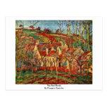 Los tejados rojos, por Pissarro Camilo Postal
