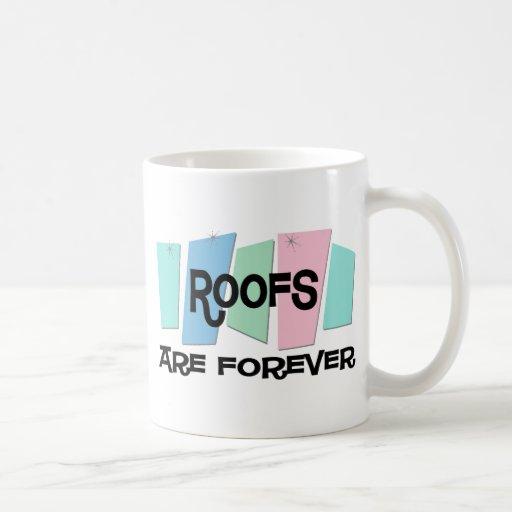 Los tejados son Forever Tazas De Café