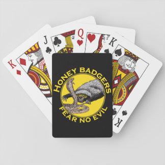 Los tejones de miel 'no temen ningún evil barajas de cartas