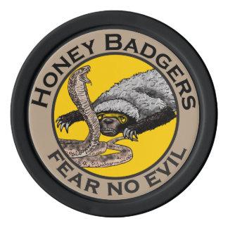 Los tejones de miel 'no temen ningún evil fichas de póquer