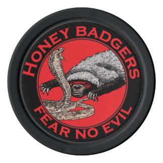 Los tejones de miel 'no temen ningún evil juego de fichas de póquer