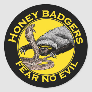 Los tejones de miel 'no temen ningún evil pegatina redonda