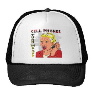 Los teléfonos celulares me apagan gorro de camionero