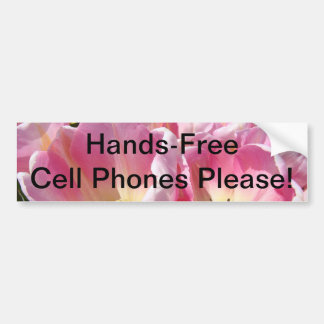 ¡Los teléfonos celulares sin manos satisfacen! peg Etiqueta De Parachoque
