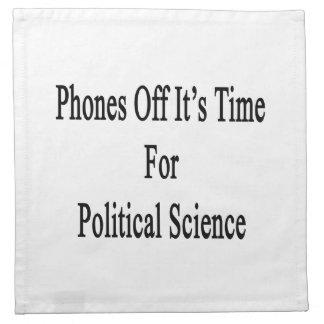 Los teléfonos de él son hora para la ciencia polít servilletas