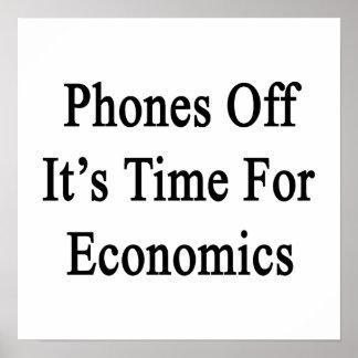 Los teléfonos de él son hora para la economía poster