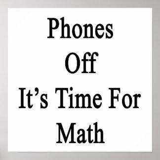 Los teléfonos de él son hora para la matemáticas impresiones