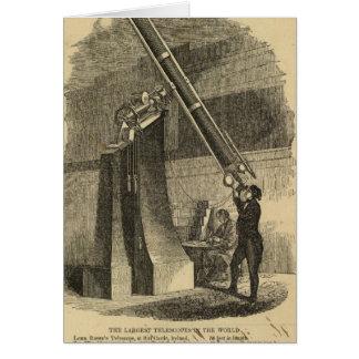 Los telescopios más grandes tarjeta de felicitación