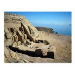 Los templos de Abu Simbel, desierto de Egipto Postal