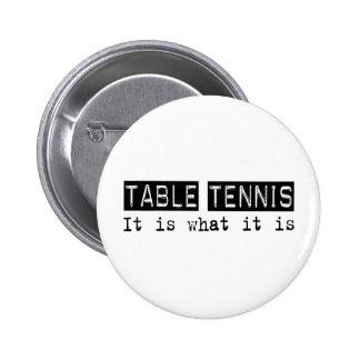 Los tenis de mesa es pin redondo 5 cm