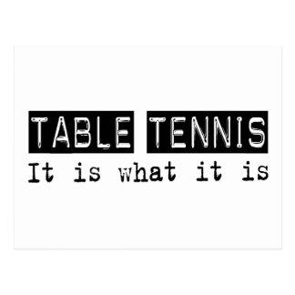 Los tenis de mesa es tarjetas postales