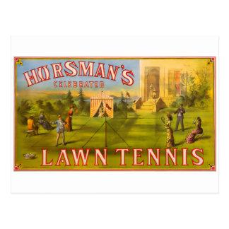 Los tenis sobre hierba de Horsman Tarjetas Postales