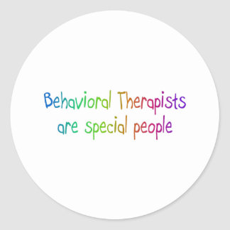 Los terapeutas de Bahavioral son gente especial Pegatina Redonda