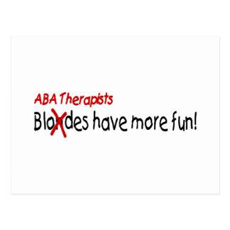 Los terapeutas del ABA se divierten más Postal