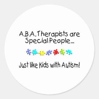 Los terapeutas del ABA son gente especial apenas Pegatina Redonda