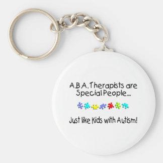 Los terapeutas del ABA son gente especial… Llavero Redondo Tipo Pin