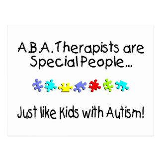 Los terapeutas del ABA son gente especial Postal