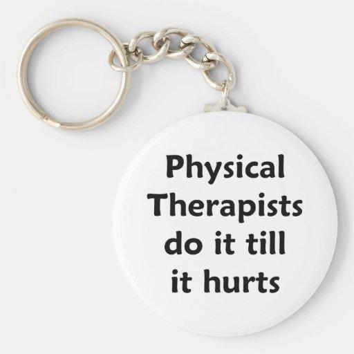 Los terapeutas físicos hacen él hasta que daña lla llavero