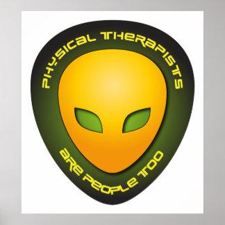 Los terapeutas físicos son gente también posters
