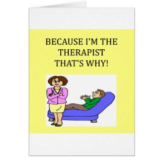 los terapeutas saben mejor tarjeta de felicitación