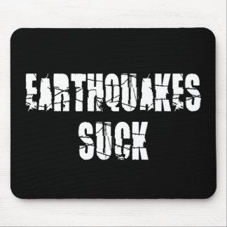 Los terremotos chupan tapetes de ratón