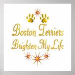 Los terrieres de Boston aclaran mi vida Posters