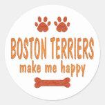 Los terrieres de Boston me hacen feliz Etiquetas