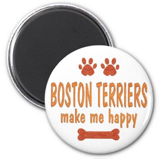 Los terrieres de Boston me hacen feliz Imán